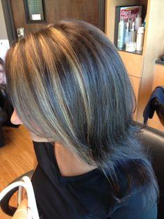 Carmel highlights brown hair