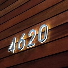Luxello LED lighted house numbers.
