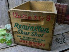 Vintage Remington Wood Ammo Box - Shur Shot & old wooden ammo boxes   Description: Antique Remington and ... Aboutintivar.Com