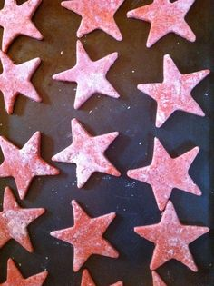 Starfish cookies for Missy's school project (before baking).