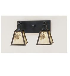 """View the Meyda Tiffany 52460 Craftsman / Mission 2 Light 17"""" Wide Bathroom Fixture from the Craftsman Signature Series Collection at LightingDirect.com."""
