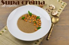 Supa crema de ciuperci Supe, Lidl, Chana Masala, Ethnic Recipes, Food, Essen, Meals, Yemek, Eten