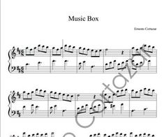 Music Box - Piano Sheet Music now available on ErnestoCortazar.net Free Music Streaming, Online Music Stores, Transcription, Piano Sheet Music, Words, Box, Diy And Crafts, Fotografia, Piano Score