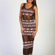 Naomi maxi mesh dress