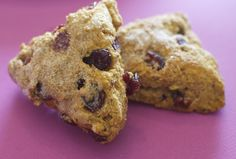 Whole Wheat Fat-Free Vegan Scone Recipe (Pumpkin Cranberry Scones) | Happy Herbivore