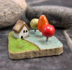 tiny ceramic landscapes