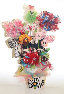 "3pinkribbons: A ""Year of Bows"" Hair Bow Bouquet!"