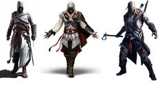 Assassins Creed 1 2 and 3 Altair Ezio Connor
