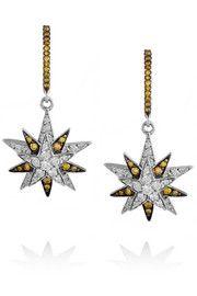 Ileana MakriCentarus 18-karat white gold diamond earrings