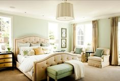 Our master...love these colors together SW6204 Sea Salt by Sherwin Williams