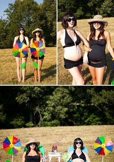 friends maternity shoot inspiration