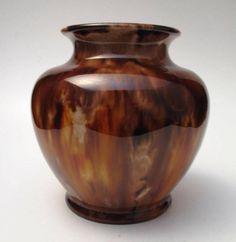 Signed Mchugh Tasmania Australian Pottery Vase Stunning Glaze   eBay