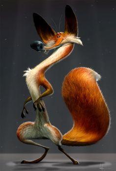Mr fox, JB Vendamme on ArtStation at https://www.artstation.com/artwork/4kgAl