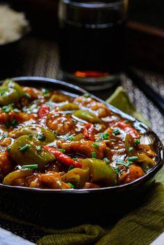 Chilli Garlic Chicken Recipe, How to make Chilli Garlic Chicken via @WhiskAffair