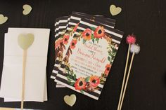 Set of Printed Invitations Envelopes or by PalmsandPeonies