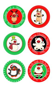 Christmas Cupcake Toppers – Free Printable | Putting on a Party Store-IMPRIMÍ EN PRINTOOS