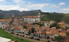 Historic Town of Ouro Preto in Brazil