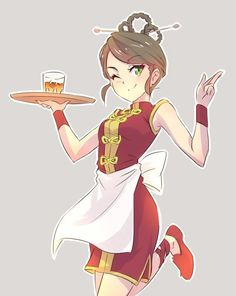 RWBY. The waitress