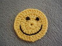 Lustige Smiles, Button, Aufnäher