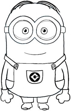 Pencil Drawing Tutorials How to Draw Dave . one of the Minions from Despicable Me Drawing Tutorial Minion Coloring Pages, Colouring Pages, Printable Coloring Pages, Coloring Pages For Kids, Coloring Books, Minion Sketch, Minion Drawing, Minion Art, Minions Cartoon