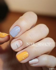 Have you discovered your nails lack of some popular nail art? Yes, recently, many girls personalize their nails with beautiful … White Nail Designs, Nail Art Designs, Nails Design, Funky Nail Designs, Love Nails, Fun Nails, Essie, Minimalist Nails, Minimalist Design