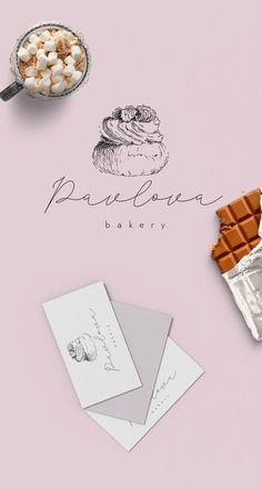 Baking Logo Design, Cake Logo Design, Bakery Design, Menu Design, Bakery Branding, Bakery Logo, Logo Dulce, Bakery Names, Sweet Logo