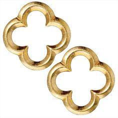 BRIGHT 22K GOLD PLATED LEAD FREE PEWTER LG QUATREFOIL CONNECTOR LINK 22MM 2 from beadaholique.com