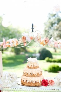 Three Tier Bundt Cake - would be pretty for a bridal shower