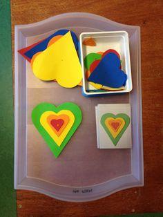 Leggen naar voorbeeld Valentine Theme, Valentine Crafts, Valentines Day, Art Classroom, Alphabet, Projects To Try, Felt, Shapes, School