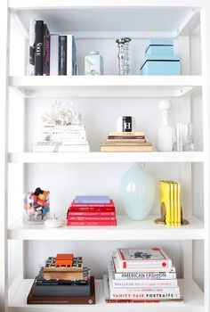 chic inspiration custom bookshelf. bookshelves at WhoWhatWear offices  17 Stylish Boho Chic Designs Shelves Bookshelf styling and Stylists