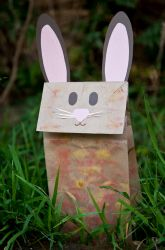 Make a Bunny Paper Bag Puppet from Education