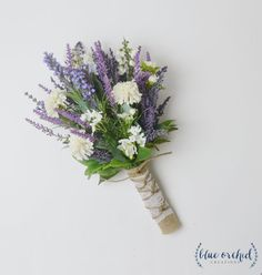 Small Wildflower Bouquet Lavender Bouquet by blueorchidcreations