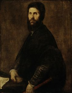 Man Holding a Flute / Titian / c. 1560-65 / oil on canvas / Detroit Institute of Arts