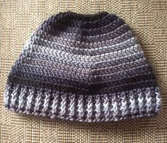 Messy Bun Hat, Pony Tail Hat, Crochet Adult hat, Man Bun Hat, Ski Hat, Hat with Hole, Winter Hat, Grey Hat, Messy Bun Hats, Adult Winter Hat by ArtfullyCreated4U on Etsy