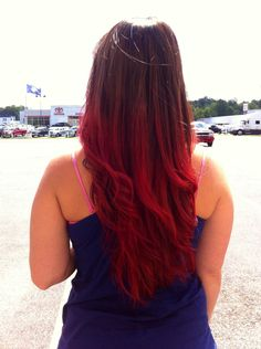 Gorgeous brown to red ombre