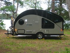 Canadian teardrop Camper.The top glass rises at the touch of a button. #Camper…