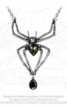 Alchemy Gothic Emerald Venom Necklace