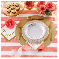 Sparkle and Shine Gold Foil 50th Anniversary Dessert Plates, 8 pk