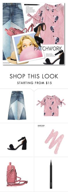 """All Patched Up: Patchwork"" by svijetlana ❤ liked on Polyvore featuring Current/Elliott, H&M, Urban Decay, MAC Cosmetics, patchwork and zaful"