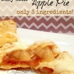 individual apple pie recipe with only 3 ingredients!
