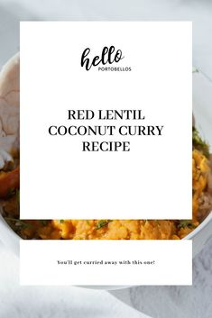Lentil Recipes, Bean Recipes, Curry Recipes, Vegetarian Cooking, Vegetarian Recipes, Indian Food Recipes, Whole Food Recipes, Dairy Free Recipes, Gluten Free