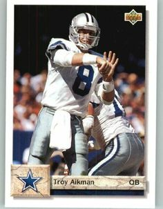 1992 Upper Deck #597 Troy Aikman Dallas Cowboys Football Card by Upper Deck. $0.99. Quickly and securely shipped in a soft sleeve, toploader and bubble envelope.