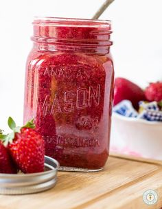 Strawberry Chia Seed Jam | glutenfreeveganpantry.com