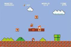 Super Mario Bros Level 1 Classic Retro NES Nintendo Video Game Poster - 36x24 #PyramidAmerica