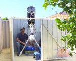 Thava built an observatory in his backyard in WA so he could capture the stars at his own pleasure and protect his gear while its not in use. Clever, Shed, Backyard, Stars, Building, Pretty, Projects, Log Projects, Patio