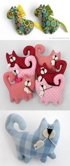 Idées de cadeaux avec leurs propres mains par IzTkaniRukami - décoration textile (chevaux, phoques)