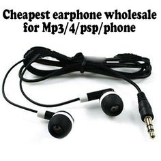 Wholesale Cheapest  disposable earphones/headphone/headset for bus or train or plane one time use 2000pcs/lot