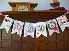 Stampin' Up!  Love Banner  Shari L. Fritz  Valentine's Day