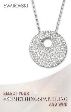 This beautiful stone pendant is definitely Sparkling by Swarovski. Swarovski Jewelry, Swarovski Crystals, Ring Tattoos, Perfume, Jewelry Tattoo, Sparkle Wedding, Treasure Chest, Stone Pendants, Modern Jewelry