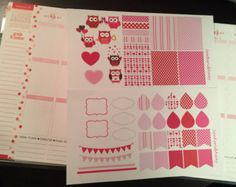 Valentine's Day Sticker Set - Perfect to decorate your planner!
